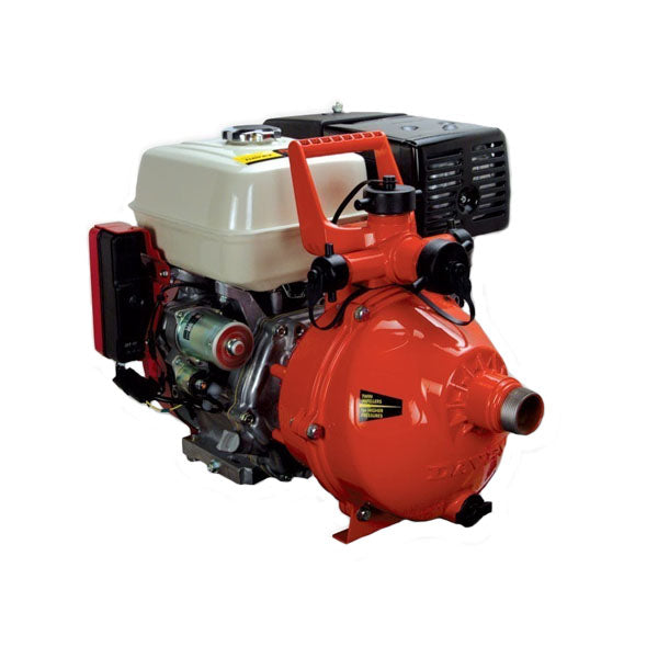 "Davey Firefighter Pump Twin Stage GX270 Honda 2"" In & Out (3 Outlet) Electric Start"