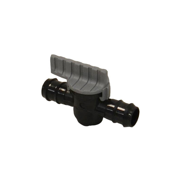 20mm Inline Shut Off Valve Netafim (Black) Double Barbed