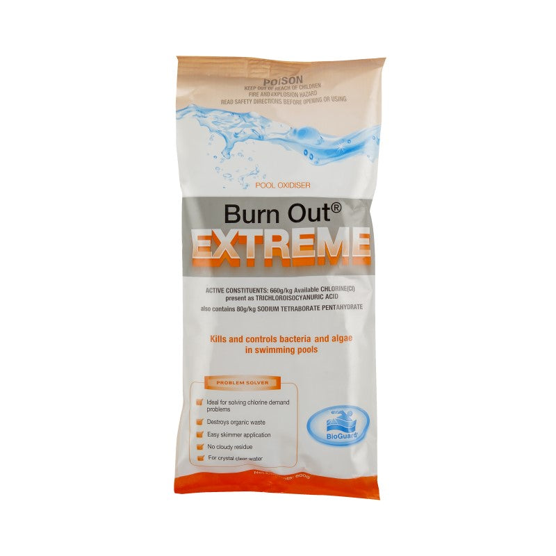 BioGuard Burn Out Extreme High Concentrate Chlorine Bag 600g