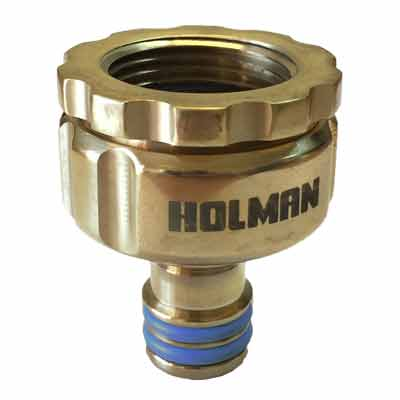 Holman 18 mm Brass Universal Tap Adaptor Grip N Lock