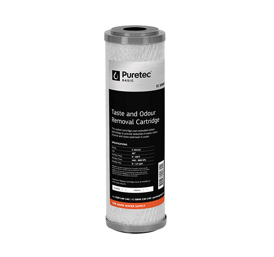 "Puretec Extruded Carbon Filter Cartridge 10"" 5 Micron"