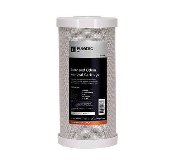 "Puretec Extruded Carbon Large Diameter Filter Cartridge 10"" 5 Micron"