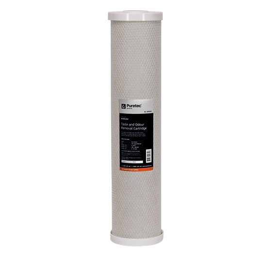 "Puretec Extruded Carbon Large Diameter Filter Cartridge 20"" 5 Micron"