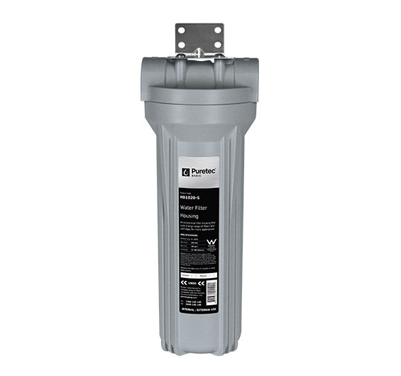 "Puretec Filter Housing Kit - Silver w/ Black Head 3/4"" connection"