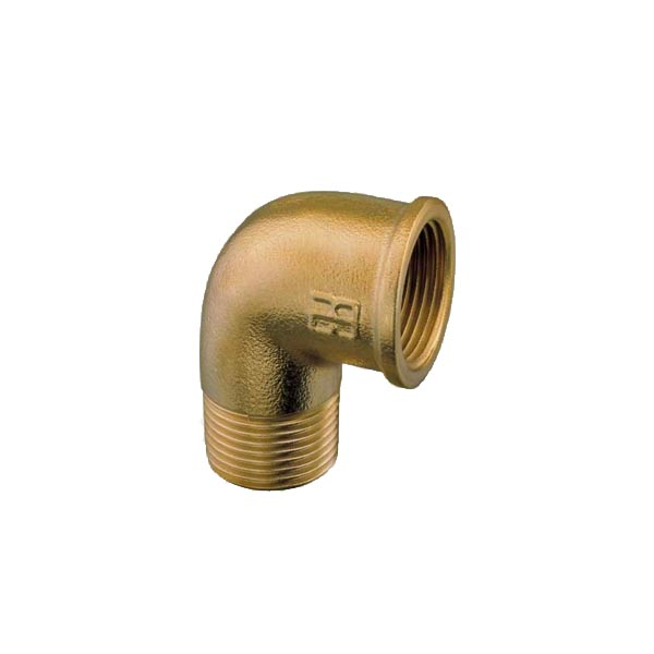 Brass Threaded Male Female Elbow 1/4""