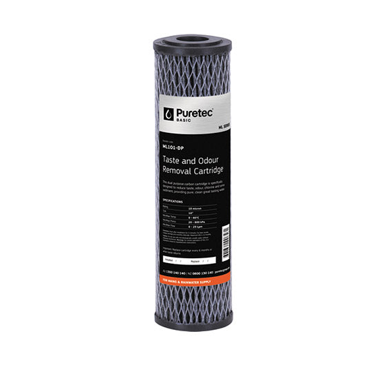 "Puretec Multi Purpose Standard Diameter Carbon Filter Cartridge 10"" 10 Micron"