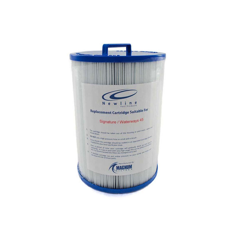 Spa Filter Cartridge 210mm(H) x 150mm(W) Handle Top Male Thread Bottom