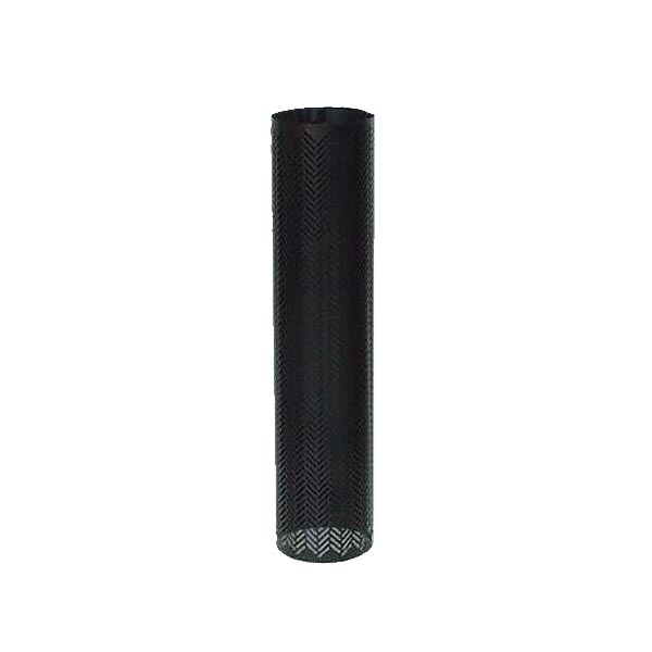 "8"" Perforated Flue Herringbone Deco 900mm Mesh Black Lugs"