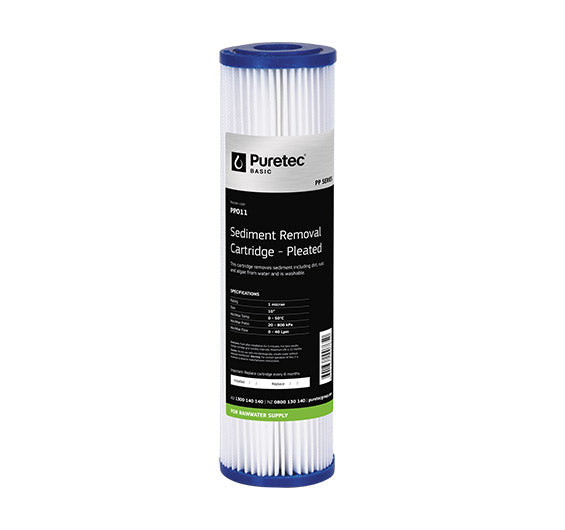 "Puretec Pleated Sediment Cartridge 10"" 5 Micron"