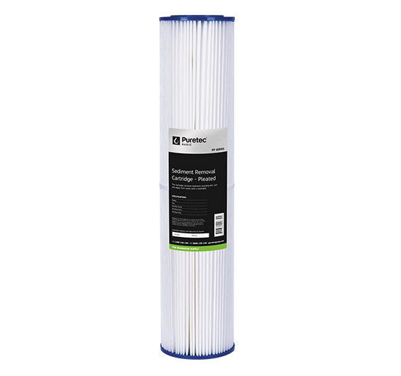 "Puretec Pleated Sediment Large Diameter Cartridge 20"" 20 Micron"