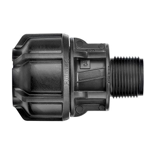 "Philmac Metric End Connector 75 mm x 2"" Mi"