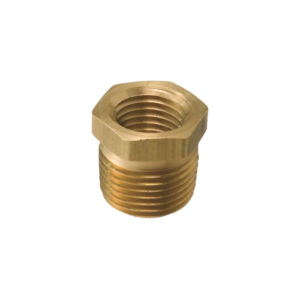 "Brass Threaded Bush 3/8"" x 1/8"""