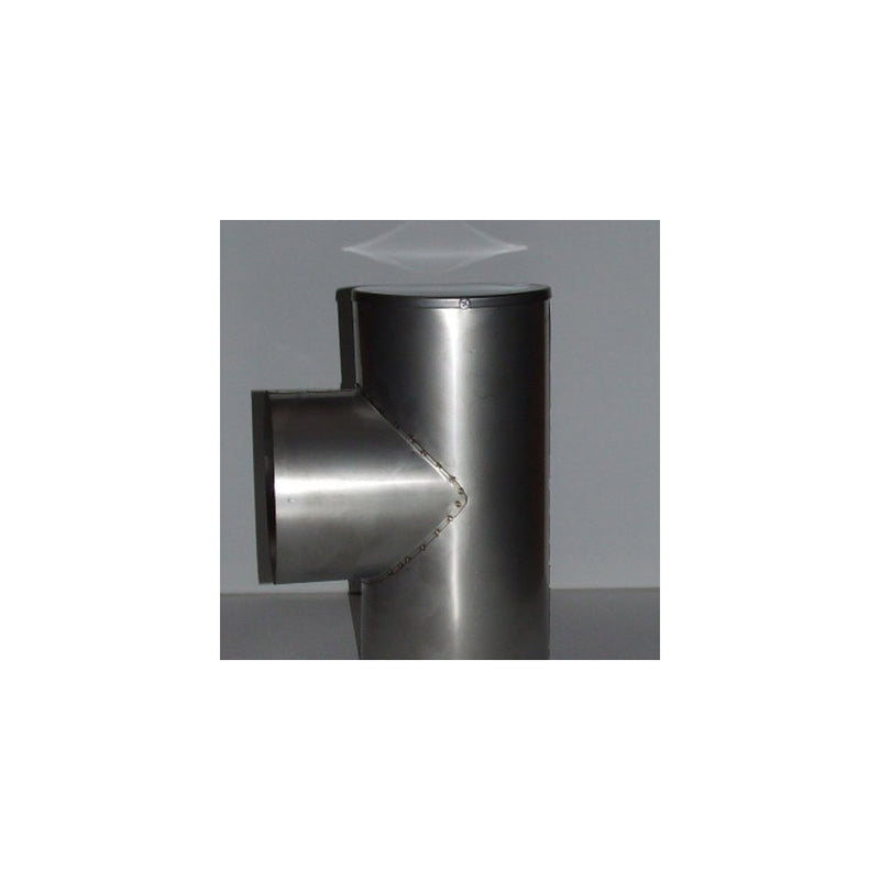 "T Piece 6"" Stainless Steel For Flue Lengths"