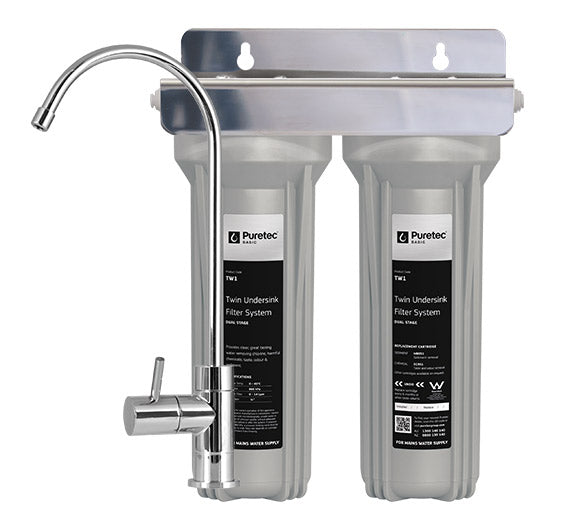 Puretec Twin Undersink Water Filter System w/ Pressure Limiting Valve