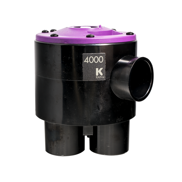 K-Rain 4000 Series Indexing Valve For 4 Outlet - Purple Lid (4 cam)