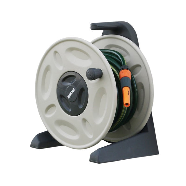 Holman Wall Mounted Hose Reel with Spray Nozzle 12mm x15m