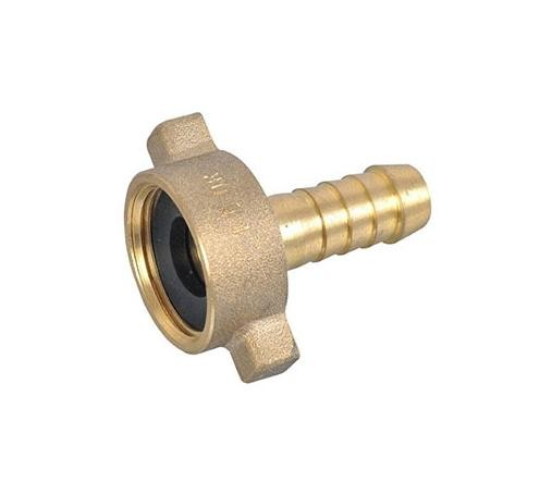 "Brass Threaded Nut & Tail 3/4"" x 1/2"""