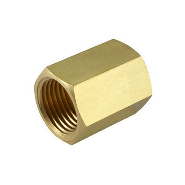Brass Threaded Hex Socket 1/4""