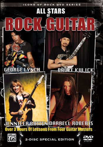 All Stars Of Rock Guitar Lessons DVD