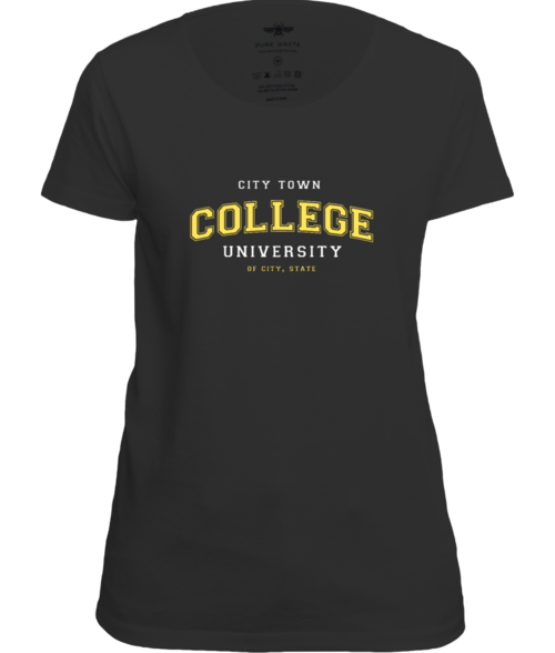 College University Femme Fit Tee