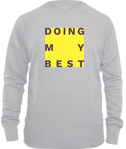 Doing My Best Big Yellow Box Unisex Sweater
