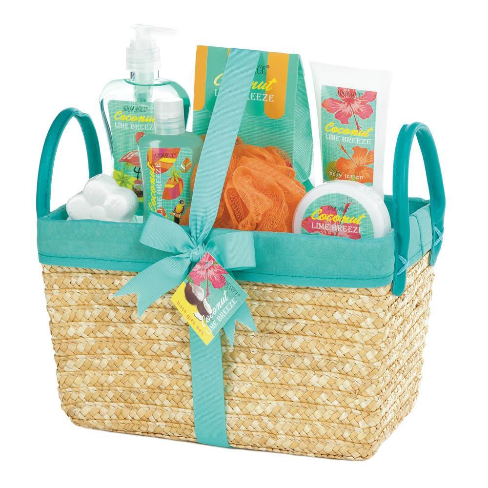 Coconut Lime Tropical Spa Basket Set