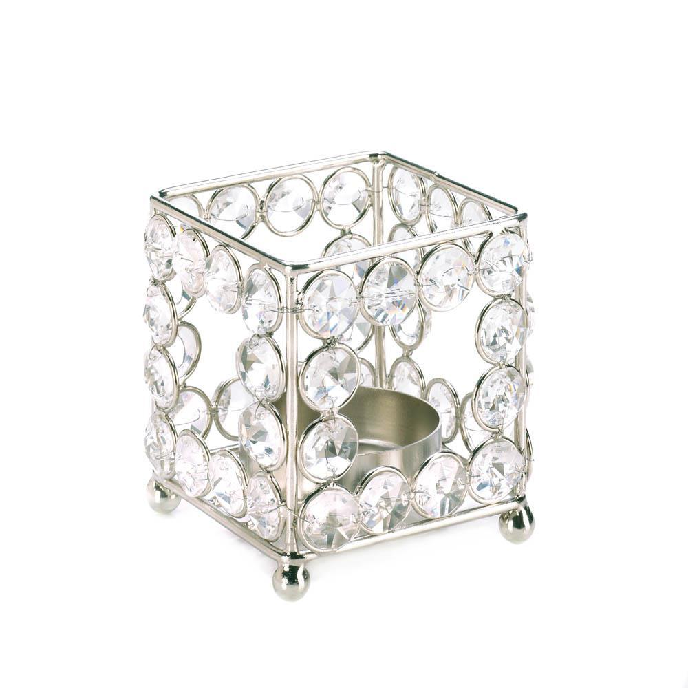 Crystal Square Candleholder