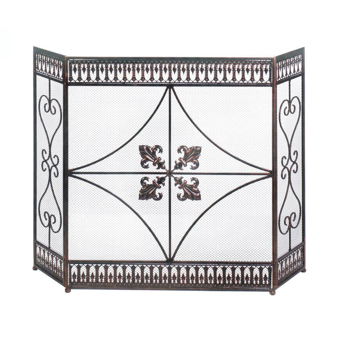 French Flourish Fireplace Screen