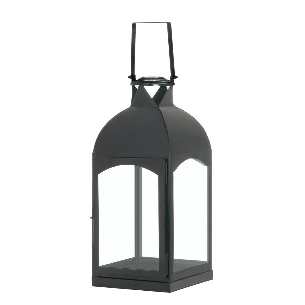 Large Domed Black Candle Lantern