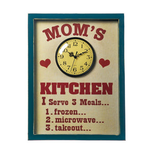 Mom's Kitchen Clock Sign