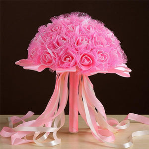 Artificial Flower For Wedding Decoration artificial wedding bouquets home decoration accessories flower flores artificiales