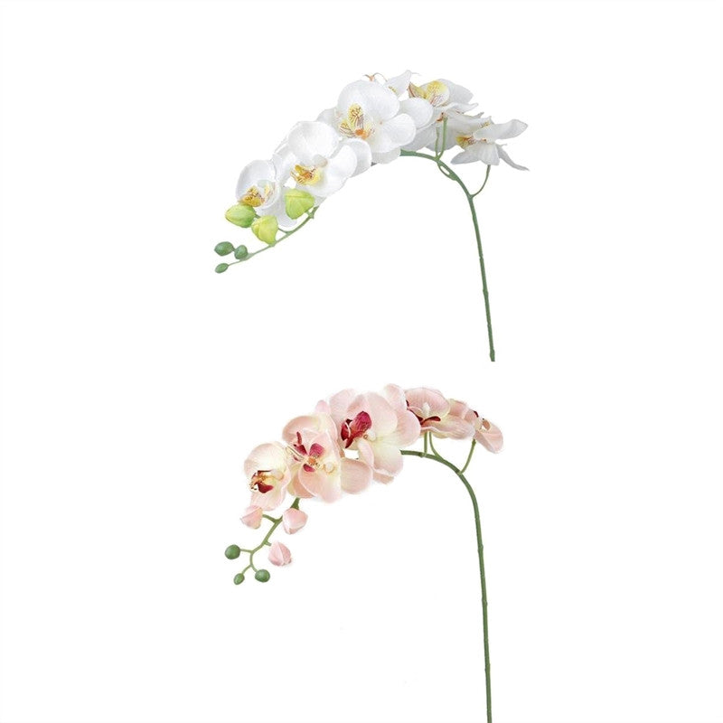 2pcs Artificial Butterfly Orchid Flower Plant Home Decoration