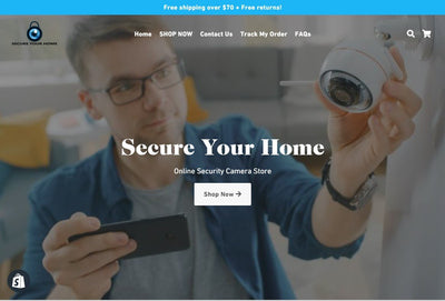 SECURE YOUR HOME | SHOPIFY ONE PRODUCT DROPSHIPPING STORE