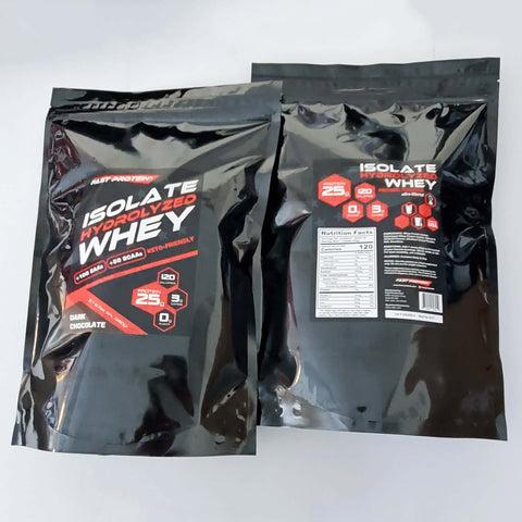 Dark Chocolate Whey Isolate by Fast Protein 2LB bag 99% Lactose-Free and Fat Free