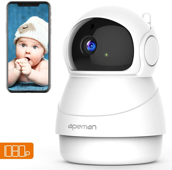 Videocamera IP Wireless Interno Telecamera Apeman FHD 1080p