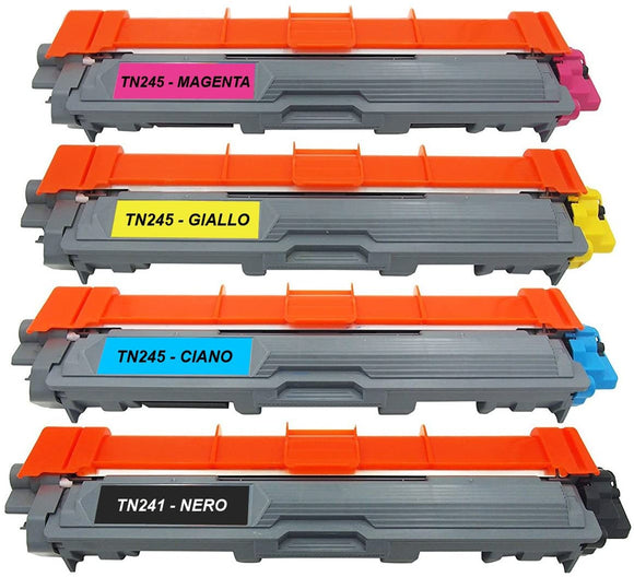 Kit 4 Toner Compatibile Brother TN-241BK TN-245C TN-245M TN245Y