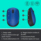 Mouse Logitech M171 Wireless - BLU