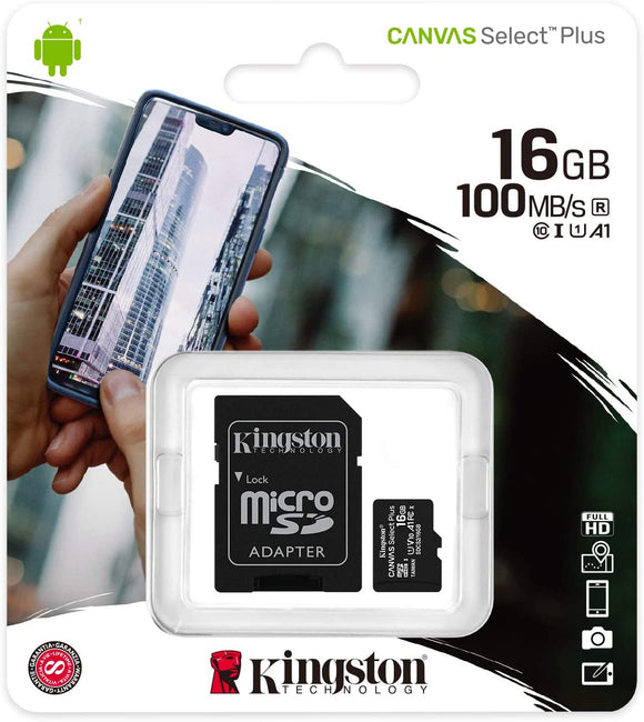 MicroSD 16GB Kingston Classe 10 SDCS2/16GB Canvas Select Plus