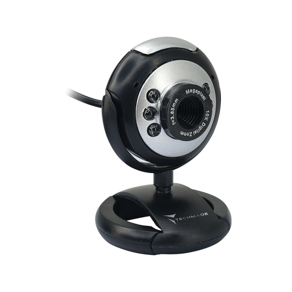 Webcam Techmade USB con Microfono TM-C013