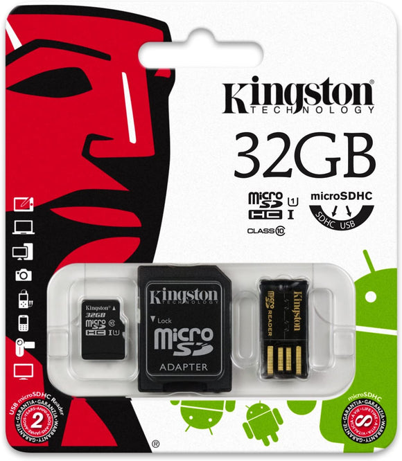 MicroSDHC 32GB Kingston Classe 10 MBLY10G2/32GB