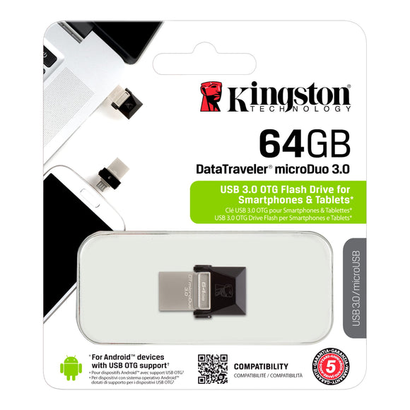PEN DRIVE 64GB KINGSTON DTDUO3/64GB USB3.0