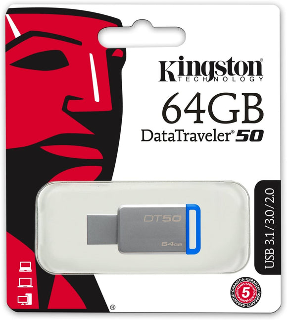 PEN DRIVE 64GB KINGSTON DT50/64GB USB3.0