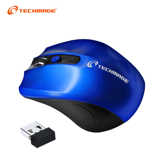 Mouse Wireless Techmade - Blu TM-XJ30-BL