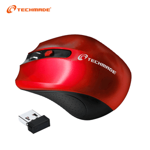Mouse Wireless Techmade - Rosso TM-XJ30-RED