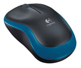 Mouse Logitech M185 Wireless - BLU