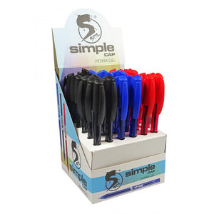 ESPOSITORE 36 PENNE SIMPLE CAP PUNTA 1.0 MM SPIL - COLORI ASSORTITI