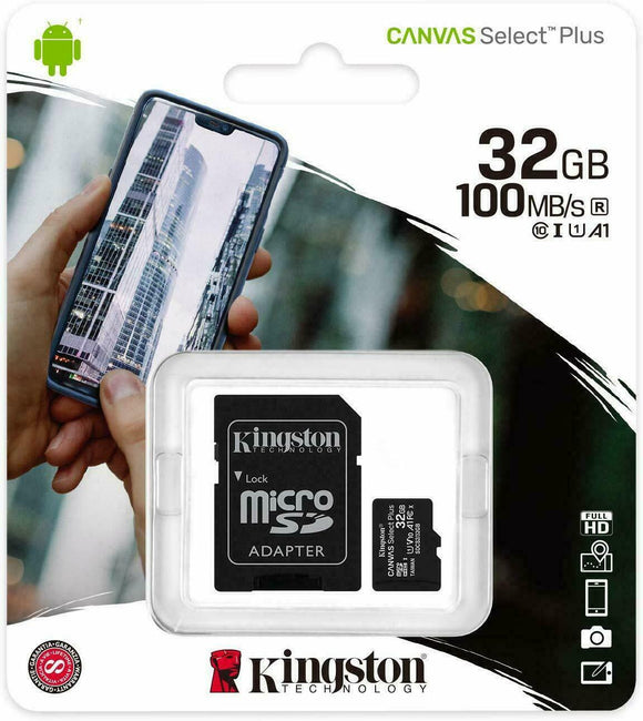 MicroSD 32GB Kingston Classe 10 SDCS2/32GB Canvas Select Plus