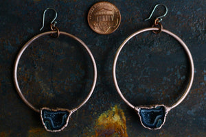 Tabasco Geode Hoops