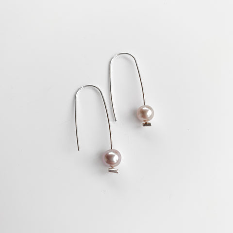 Mini Pearl Dangles - Pink