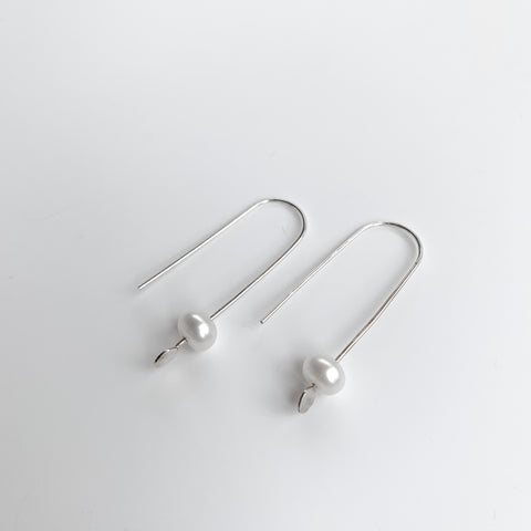 Mini Pearl Dangles - White